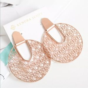 NWT Kendra Scott Diane Rose Gold Statement Earring